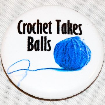Button crochet takes balls