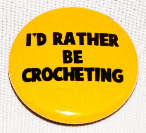 Button rather crocheting