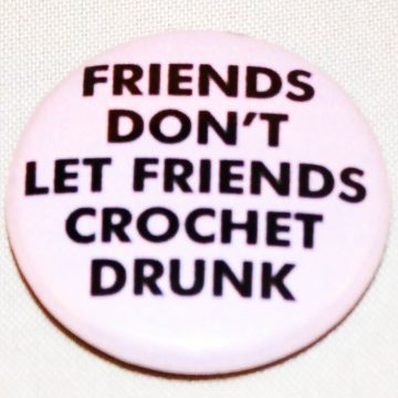 Button drunk crochet