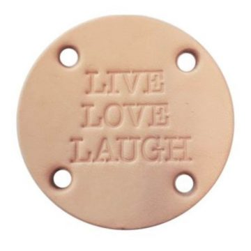 leren label live love laugh